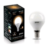 Электролампа Gauss LED Globe 4W E14 2700K 1/10/50(EB105101104)